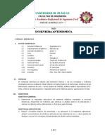 Ingenieria Antisismica - UDH - Syllabus