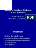 Basics of Inpatient Medicine for the SubI