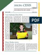 Cesis Mission Newsletter- October