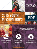2015 Group Mission Trips Catalog