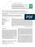 Differential Effects of Mineral and Organic Acids on the Kinetics