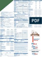 PS Bank Sample Home Loan App Form