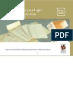 Especificaciones Para Cajas de Carpeta de Archivo