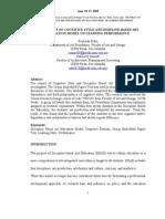 Rozimah Bidin.zalina Samadi. 2009 .the Impact of Cognitive Style and Discipline Based Art Education Model on Learning Performance.icerP.-libre