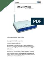 Manual de Usuario ZTE ZXV10 W300