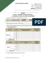 Raportare Teste Initiale 2011-2012