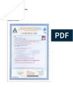 PGDiplomaCertificate and Marks Sheet