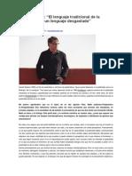 Daniel Solana Entrevista Pliego Suelto