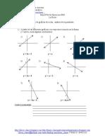 34 - Guía Nº34 De Ejercicios PSU - La Recta - interpretacion de graficas de rectas y analisis de la pendiente