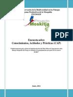Producto No. 1 Encuesta Sobre Actitudes Conocimientos y Practicas 30072012