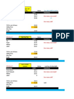 Selling Worksheet