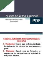 Clases de Actos Juridicos