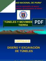 Cap. IV Diseño y Excavación de Tuneles