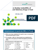 3.Maximum Residue Limits of Pesticide and Veterinary Drugs in Food