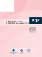 Competition Policy in Western Balkan Countries