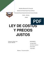 Ley de Costos y Precios