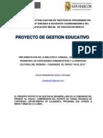 Proyecto Implementacion de La Biblioteca Comunal Del Pronoei El Prado Deza