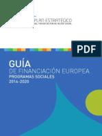 GUÍA DE FINANCIACIÓN EUROPEA. PROGRAMAS SOCIALES 2014-2020