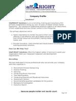 Staff Right Company Profile 2009