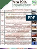 Itinerario Peru 2014