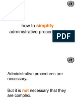 UNCTAD 10 Principles to Simplify Administrative Procedures 18 June2014