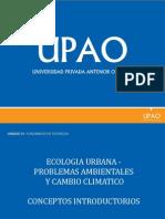 Ecologia Urbana - Problemas Ambientales y Cambio Climatico