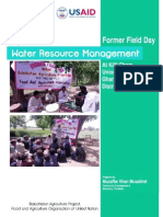 Farmers Field Day Report District Musakhel Balochistan Pakistan