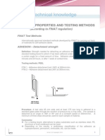 Adhesive Properties Tests