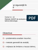 6 Risc Tehnic Tehnologic Metoda HAZOP