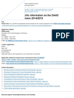 DAAD - Country-specific Information on the DAAD Scholarship Programmes 2014_2015 - DAAD - Deutscher Akademischer Austausch Dienst