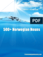500 Norwegian Nouns