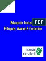 Enfoque Economico de La Inclusion Educativa