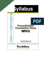 Syllabus PowerBuilder Foundation Class v12