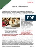 Nueva Ley Universitaria Debates Polemicas