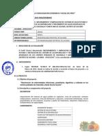 Informe Tecnico de Aprobacion de Perfil Tecnico Agua y Desague de Santa Ana de Aucara y Chacralla