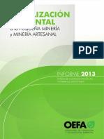 Informe Sobre Fiscalización Ambiental en Los Gobiernos Regionales 2013 - OEFA