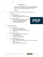 2012 Constitutional Law MBE Scope Outline