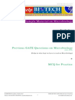 GATE Sample Material - Microbiology