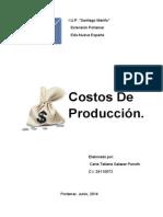Costos de Producción. Carla Tatiana