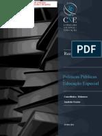 Cne Junho 2014 Recomendação Políticas Públicas de Educação Especial