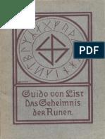 List, Guido Von - Das Geheimnis Der Runen (1907, 84 S., Scan) (1)