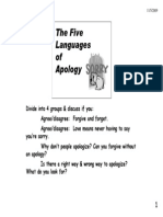 Five Languages of Apology Notes