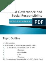 Good Governance and Social Responsibility