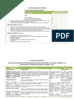 Cronograma y Matris de Consistencia