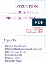 Construction Materials for Pressure Vesel