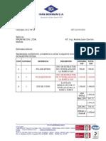 Cotizacion Promine Extractores Hidraulicos Junio 2012