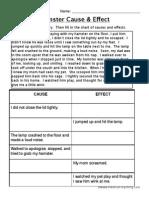 Cause Effect Worksheet 3