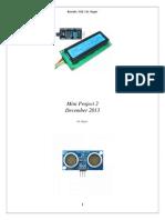 Mini Project2-Lcd Ywrobot Ultrasonic
