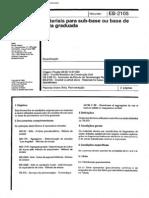 NBR 11806_91 (EB-2105) - Materiais Para Sub-base Ou Base de Brita Graduada - 2pag