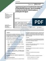 NBR 11828_91 (EB-2127) - Argamassa Para Revestimento Interno de Tubulações de Aço, Ferro Fundido Cinzento Ou Dúctil, Destinadas à Condução de Água - 2pag